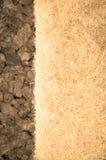 Thermal insulating hemp fiber and compressed cork panels Stock Photos