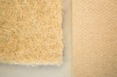 Thermal insulating hemp fiber panels Stock Photos
