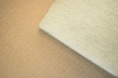 Thermal insulating synthetich fiber panels Royalty Free Stock Photo
