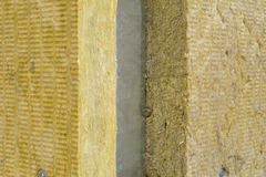Thermal insulation. Photo of Thermal insulation boards Royalty Free Stock Photo