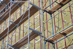 Thermal insulation of building walls Stock Image
