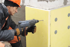 Thermal insulation of the foundation Stock Images