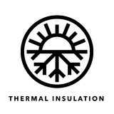 Thermal insulation icon with sun and snowflake symbol Royalty Free Stock Photography
