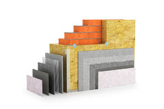 Thermal insulation of walls. 3d illustration stock illustration