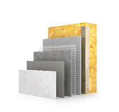 Thermal insulation of walls. 3d illustration Stock Photo