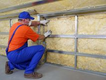 Thermal insulation work royalty free stock image