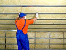 Thermal insulation work Stock Photo