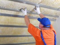 Thermal insulation work Royalty Free Stock Photo