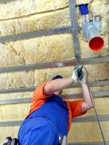 Thermal insulation work Stock Images