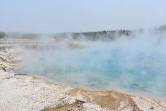 Thermal lake at Yellowstone Park stock images
