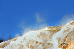 Thermal Mounds at Mammoth Hot Springs Royalty Free Stock Images