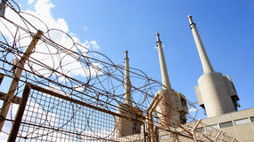 Thermal Plant with barbed wire Royalty Free Stock Photo