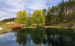Thermal pond in Egerszalok Stock Images