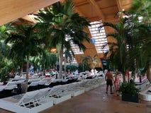 Thermal pool - Galaxy area. At Balotesti, Romania. Therme resort royalty free stock photos
