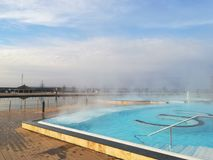 Thermal pool outdoor Stock Images