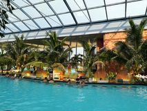 Thermal pool. Resort - indoor at Balotesti, Romania Royalty Free Stock Photos