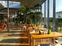 Thermal pool - restaurant area Stock Photography