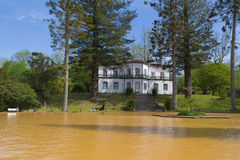 Thermal pool in Terra Nostra. Furnas botanical garden, San Miguel island, Azores. Furnas is a stratovolcano with two calderas which date back to approximately 30 Stock Photography