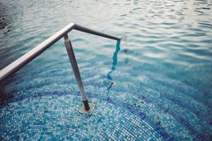 Thermal  pool tiled stairs down water Stock Photography