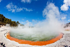 Thermal pool. In Waiotapu, Rotorua, New Zealand Royalty Free Stock Images