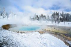 Thermal pool, Yellowstone stock image