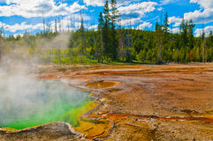 Thermal Pools Yellowstone. Abyss Pool in the West Thumb Geyser Basin of Yellowstone National Park Stock Photo