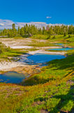 Thermal Pools Yellowstone Stock Photo