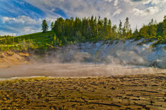 Thermal Pools Yellowstone. Abyss Pool in the West Thumb Geyser Basin of Yellowstone National Park Stock Images