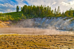 Thermal Pools Yellowstone. Abyss Pool in the West Thumb Geyser Basin of Yellowstone National Park Stock Image
