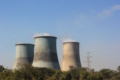 Thermal power chimney. View of thermal power chimney Stock Photos