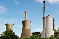 Furnaces from the thermal power plant Stock Images