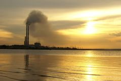 Thermal Power Plant Royalty Free Stock Photos