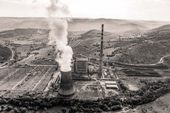 Thermal power plant aerial Royalty Free Stock Image