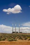 Thermal power plant in Arizona, USA. Thermal power plant in desert, Arizona, USA Royalty Free Stock Photo