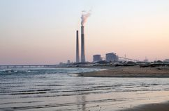 Thermal power plant in Ashkelon, Israel Royalty Free Stock Photo