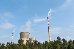 Thermal power plant and blue sky Stock Photography