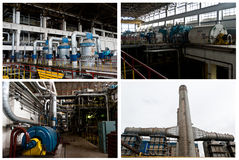 Thermal power plant collage #1 Stock Photos