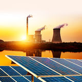 Thermal power plant Stock Images