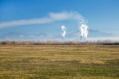 Thermal power plant. The energy plant in Bitola, Macedonia Stock Photo