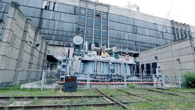 Thermal power plant industry. View of industrial thermal power plant outdoors stock video