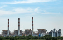 Thermal power plant. Royalty Free Stock Photo