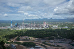 Thermal power plant. Mae Moh coal power plant in Lampang Thailan Royalty Free Stock Photo