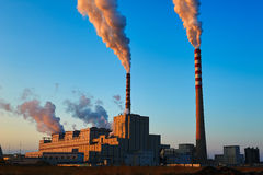 The thermal power plant Royalty Free Stock Photography