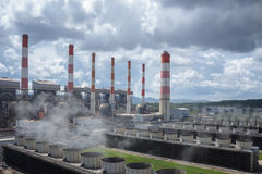 Thermal power plant. Royalty Free Stock Image