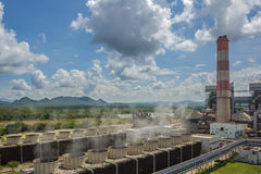 Thermal power plant. Royalty Free Stock Images