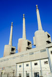 Thermal power plant in Sant Adria Royalty Free Stock Images