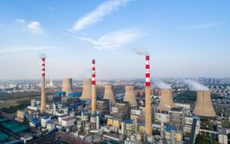 Thermal power plant. Dezhou city ,shandong province,China stock photography