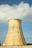 Thermal power plant in winter Royalty Free Stock Photo