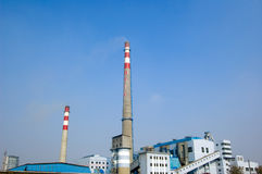 Thermal Power Station Royalty Free Stock Images