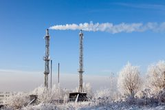 Thermal power station Royalty Free Stock Photography